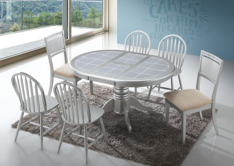 CT 4257 Champagne Tile Top Dining Set